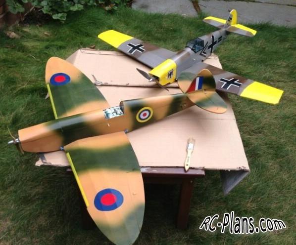free rc plane plans pdf download - rc airplane Messerschmitt Bf.109