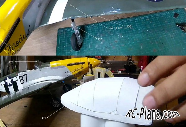 free rc plane plans pdf download - DIY foam RC airplane P-51D Mustang