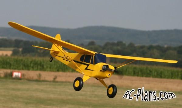 free rc plane plans pdf download - DIY simple foam RC airplane Piper
