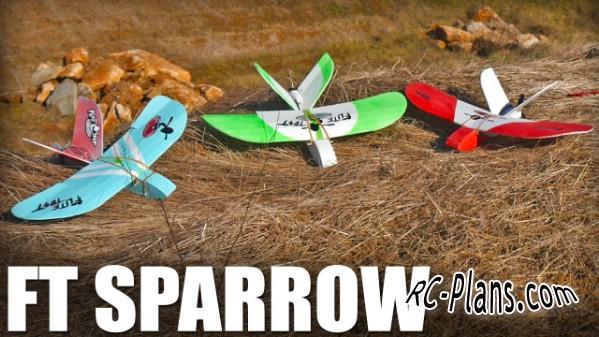 free rc plane plans pdf download - rc airplane FT Sparrow