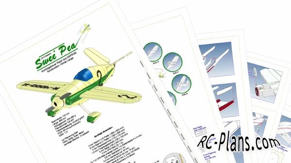 free rc plane plans pdf download - rc airplane Swee` Pea
