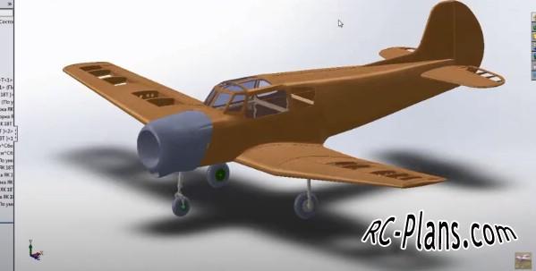 free rc plane plans pdf download - balsa rc airplane Yak-18T