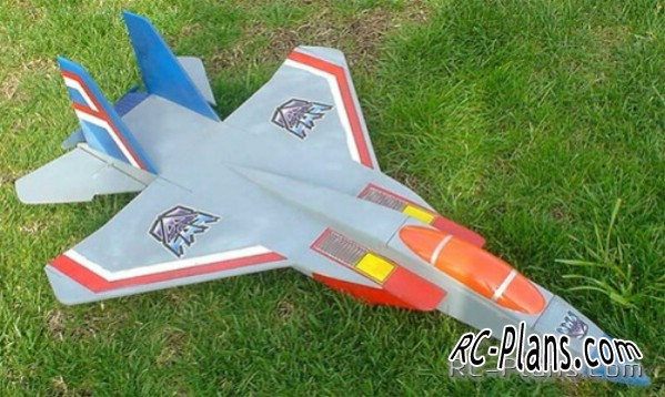 Plans RC aircraft 3D Foamy F-18