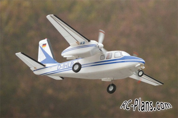 Plans RC Airplane Aero Commander