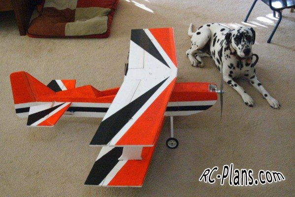 free plans for RC biplane Big Flat Ultimat