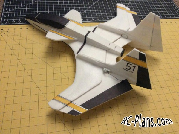 plans rc model F-243 Hunter