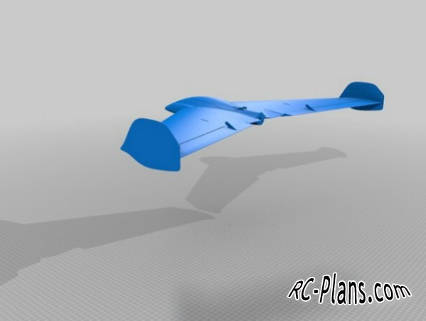 very simple 3D printable flying wing