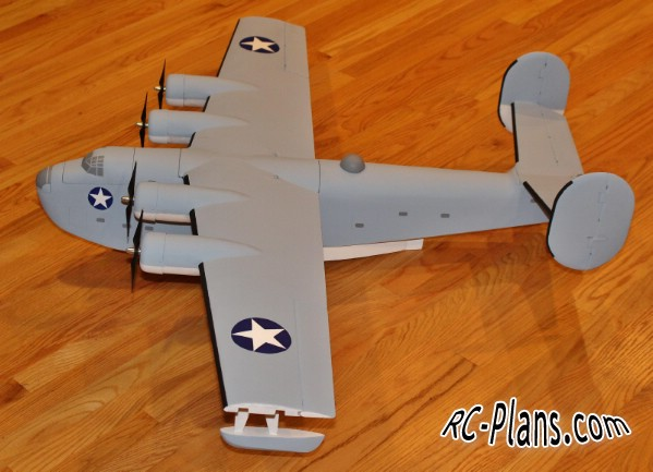 free download plans for RC airplane Consolidated PB2Y Coronado