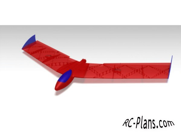 Plans 3d printed RC Flying Wing