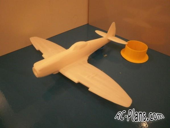 plans 3d printed Spitfire MK XVI