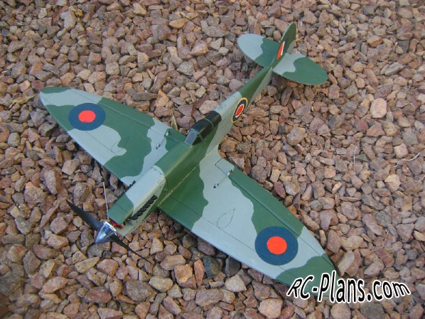 plans rc airplane Spitfire combat