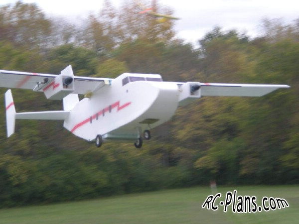 Free plans for rc model airplane Twins Cargo