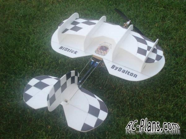 Plans RC airplane BiStick. Good aerobatic