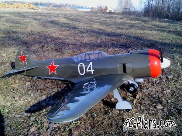 plans La 5FN RC airplane