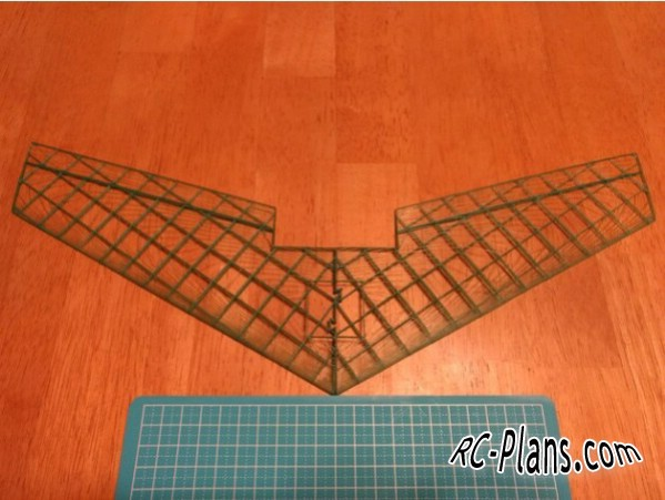 plan for rc model flying wing