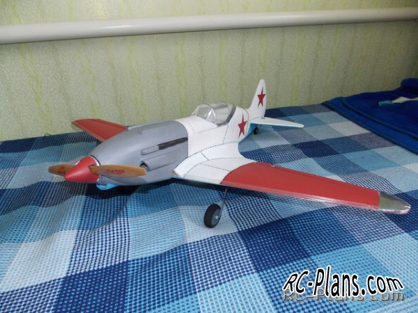 dravings rc airplane mig-3