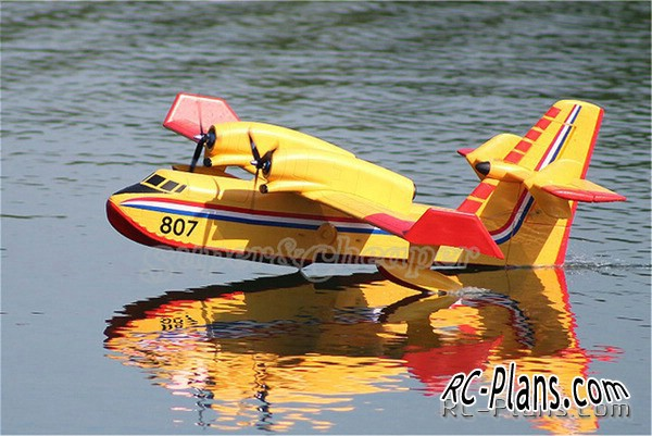 Plans of RC aircraft Canadair CL215