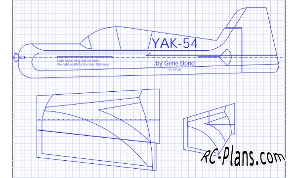 free plans for rc yak-54